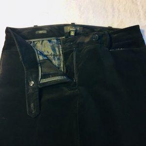 TALBOTS CURVY FIT BLACK VELVET CROPPED PANTS SZ 6
